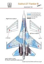 Hungarian Aero Decals 1/48 SOVIET SUKHOI Su-27 FLANKER B Jet Fighter Part 2