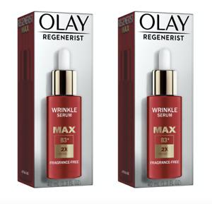 2 Pack Olay Regenerist Max Wrinkle Serum with Peptides 1.3 oz Each
