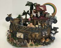Classic Treasures Animated Musical Sculpture Noah's Ark Music Box