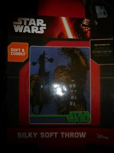 BRAND NEW in Package, Star Wars/Disney Wookiee Call Silky Soft Throw TFA movie