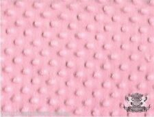 Minky Dot Fabric Pink Fabric By The Yard Polyester Pink Fur Fabric Soft Fabric