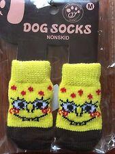 M Sponge Bob Non Skid Socks Dog New! Small Dog Yorkie Adorable!
