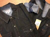 New TRUE RELIGION Horseshoe Western Black Die Denim Shirt Size XL $199