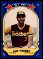 1981 FLEER STAR STICKERS DAVE WINFIELD SAN DIEGO PADRES #25