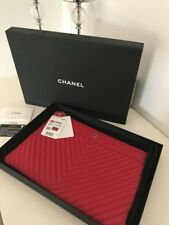 CHANEL Red O-Case Clutch Large Purse
