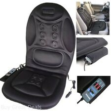 Massage Cushion Heated Seat Cover Car 12V DC Home Office AC Adapter Truck Remote