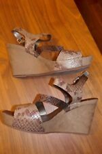 e333fd43feadd8 Ladies Clarks Snakeskin Leather Summer Holiday Evening Wedges UK6.5