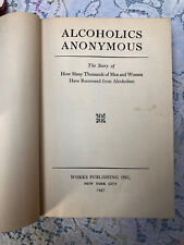 New listing Alcoholics Anonymous 1947 1St Edition 11Th Printng
