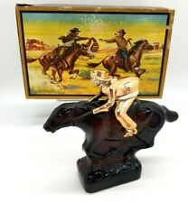 Vintage Avon Pony Express Decanter Leather After Shave Full 5 fl oz W/Box