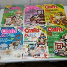 Crafts Magazine lot of 6 march 1986- August 1986 vintage craft pull out patterns