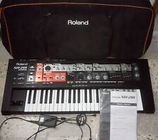 ROLAND SH201 POLYPHONIC SYNTHESIZER + BAG + MANUAL+ FACTORY POWER SUPPLY - SYNTH