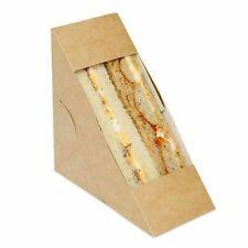 More details for 50 kraft deep fill sandwich wedges with clear window, cardboard, takeaway