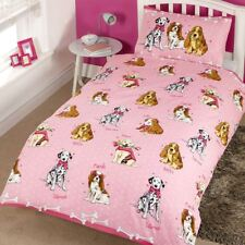 Doggies Dogs Pink Junior Toddler Duvet Cover & Pillowcase Set Childrens