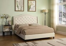 BRAND NEW California KingPlatform Bed - Best Master Furniture Y131 - Beige