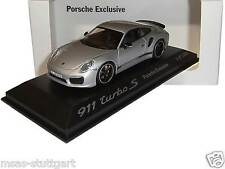 Porsche 911 991 turbo s Silver Porsche Exclusive-Minichamps 1:43 wax20140010