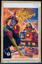 "MORGAN KANE 1951 Original Cover Art - ""Fire Fighters to Color"" (A111)"