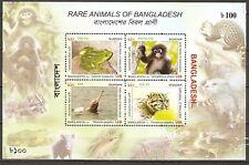 Bangladesh 2011 Block 45 animals frogs mammals monkeys dolphin ssh Mnh* 7,00 €