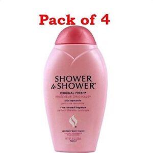 Shower to Shower Absorbent Body Powder Original Fresh w/Chamomile 8 oz (4Pack)