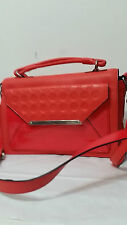 Mimco Origami Satchel Poppy Leather Silver Rrp450 Red Bag Handbag Worker