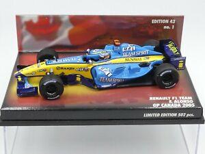 Minichamps 1:43 Fernando Alonso Renault R25 GP Canada 2005 F1 only 502 pcs.