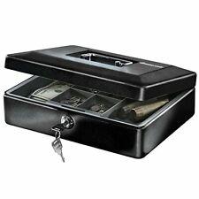 Portable Security Money Box Fire Proof Lock Safe Storage Cash Gun Jewelry Safety