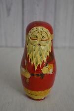 Vintage Russian Nesting Doll Figurine Santa by Enesco Christmas Holiday decor