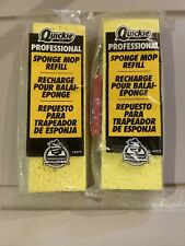 Quickie 0272 Professional Sponge Mop 2 TWO Refills for 026 027 BRAND NEW SEALED