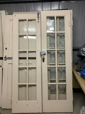 Solid redwood/maple French  double doors