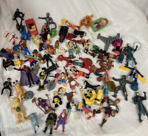vintage toys random figures lot 80s/90s pvc plastic toy happy meal collectibles