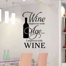 Wine Quote Words Art Vinyl Decal Home Decor Removable Kitchen Wall Sticker