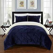 Chic Home 3-Piece Chiara Bed-In-A-Bag Navy Comforter 3 Piece