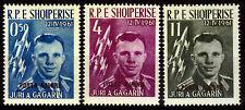 Albanien 647-49 a **, Gagarin mit roten Aufdruck