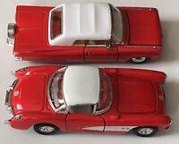 1957 Corvette & 1959 Chevy Impala Diecast Lot Of 2