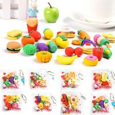 Toys School Stationery Funny Cute Party Gift Novelty Pencil Eraser Food Rubber