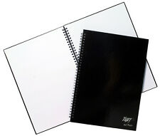 Tiger A4 PLAIN White 60 Sheet 80gsm Twin Wire Gloss Hard Back Black Cover 300700