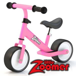 PINK BALANCE BIKES FOR TODDLERS & KIDS - LEARN TO RIDE A BIKE ON 2 WIDE WHEELS