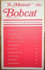 1976 Mercury Bobcat Owners Manual Original