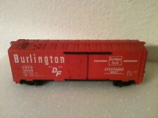 "TYCO BURLINGTON DF CB&O 19720 BOX CAR 6"" LONG SCALE HO"
