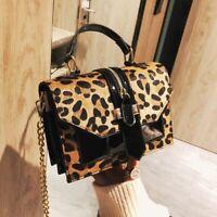 Shoulder Leather Bag Leopard Bags Women Messenger Handbag Crossbody Handbags Bag