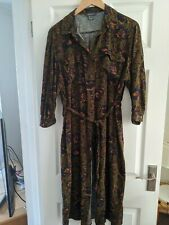 Primark Floral Khaki Shirt Dress 16