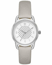 NWT Kate Spade New York Women's Boathouse Gray Leather Strap Watch 30mm KSW1163