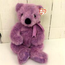 """Ty Classic Purple Lilacbeary Bear 1999 Plush Stuffed Animal 14"""""""