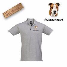 Algodón de camiseta camiseta Polo bordada American Staffordshire Terrier+