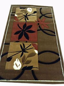 "Vintage Hand Tufted Wool Floral Brown Carpet Rug Size - 60"" x 36"""