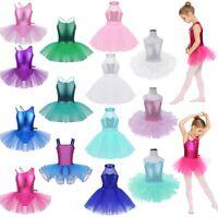 Girls Ballet Dance Tutu Dress Gymnastics Leotard Ballerina Skirt Dancing Costume