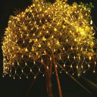 LED String Fairy Lights Net Mesh Curtain Xmas Wedding Party Home Outdoor UK MCBT