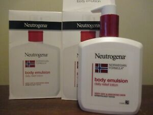 2x Neutrogena Norwegian Formula Body Emulsion Daily Relief Lotion 310ml 10.5oz