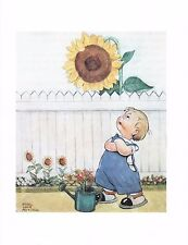 MABEL LUCIE ATTWELL CHARMING ORIGINAL BOOK PRINT FROM 1990's SUNFLOWER