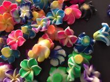 10 fiore fiori hawaiiano hawaii polimery clay handmade fimo ciondoli