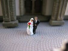 (EH03) Hochzeit Braut Bräutigam Figuren Spur Gauge Z (1:220) Wedding bride groom